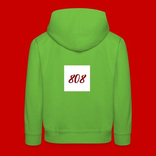 red on white 808 box logo - Kids' Premium Hoodie