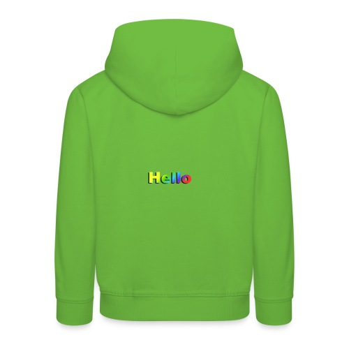 Hello - Bluza dziecięca z kapturem Premium