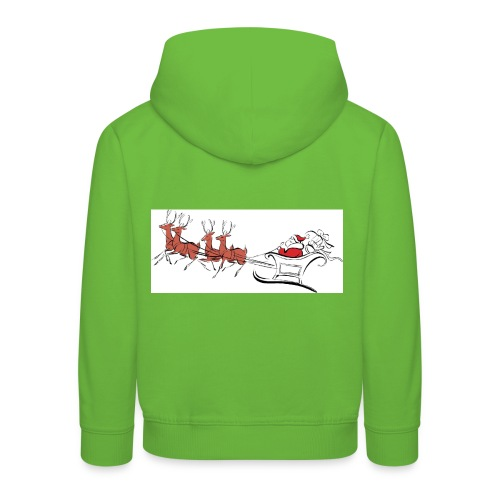 pictures-of-santa-and-reindeer-UDuZhz-clipart - Kids' Premium Hoodie