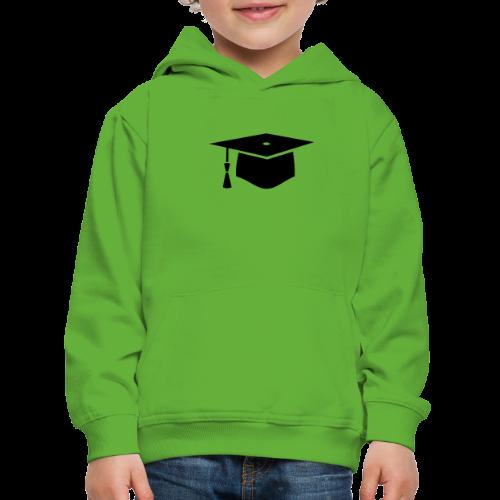 einfacher Doktorhut - Geschenk zur Doktorarbeit - Kinder Premium Hoodie