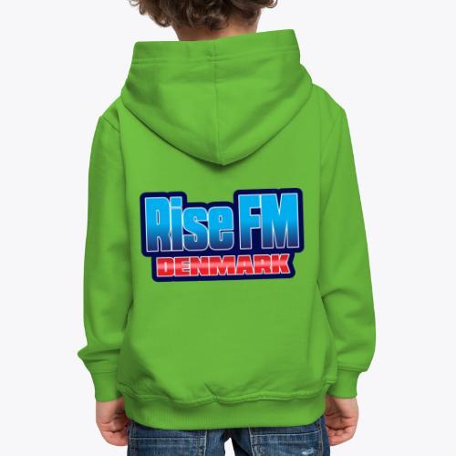 Rise FM Denmark Text Only Logo - Premium hættetrøje til børn