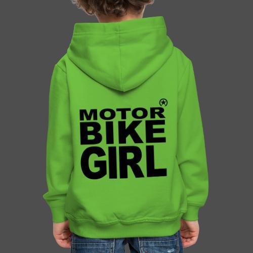 Dziewczyna motocykl - Bluza dziecięca z kapturem Premium