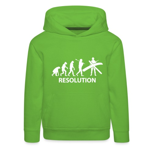 Resolution Evolution Army - Kids' Premium Hoodie