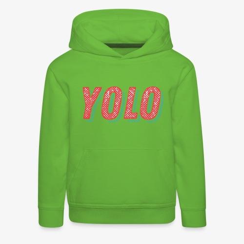 Yolo - Bluza dziecięca z kapturem Premium
