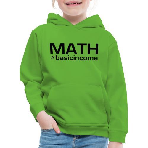 math-black - Kinderen trui Premium met capuchon