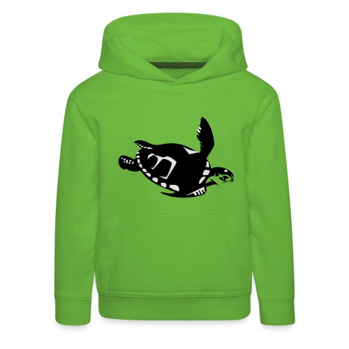 Green Turtle Schildkröte - Kinder Premium Hoodie