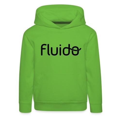 fluidologo_musta - Lasten premium huppari