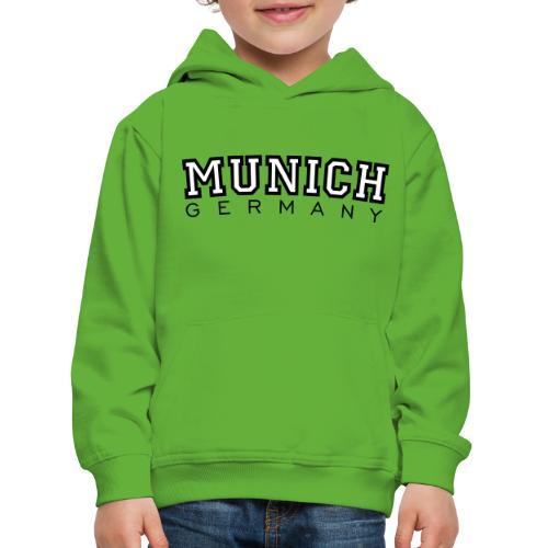 Munich Germany (Schwarz/Weiß) München - Kinder Premium Hoodie