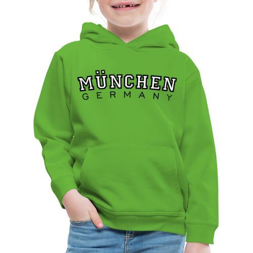 München Germany (Schwarz/Weiß) Deutschland - Kinder Premium Hoodie