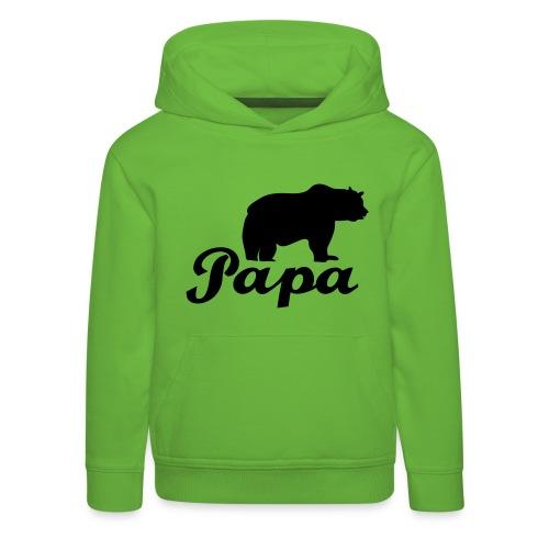 papa beer - Kinderen trui Premium met capuchon