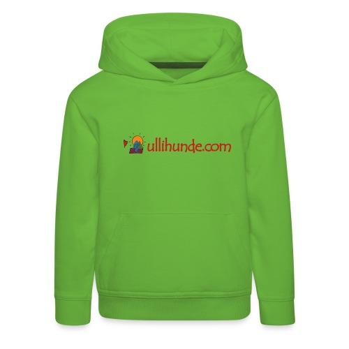 Ullihunde Schriftzug mit Logo - Kinder Premium Hoodie