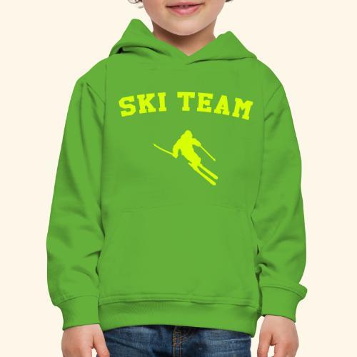 ski team - Pull à capuche Premium Enfant