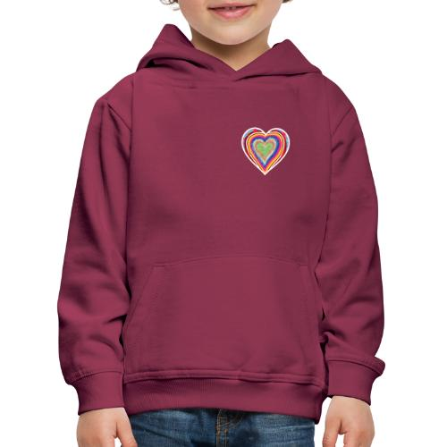 A heart in hearts is pure love on many levels - Kids' Premium Hoodie