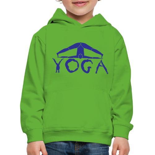 yoga yogi blu namaste pace amore hippie sport art - Felpa con cappuccio Premium per bambini