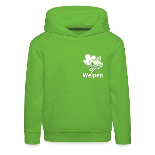 Welpen - Kinderen trui Premium met capuchon