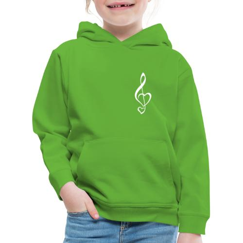 Notenschlüssel weiß/Music-Lover - Kinder Premium Hoodie