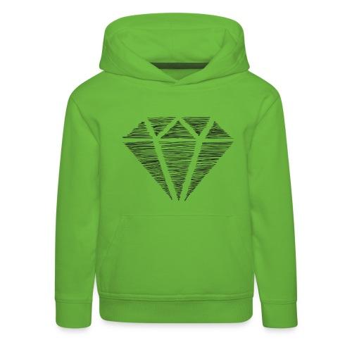 Diamante - Sudadera con capucha premium niño