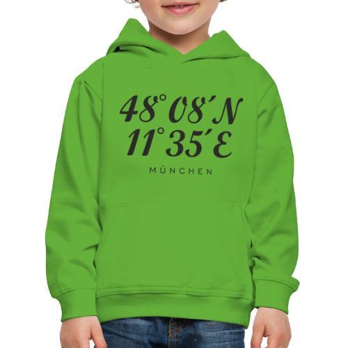 Münchener Koordinaten (Schwarz) München - Kinder Premium Hoodie