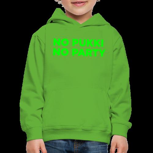No Pukki, no party - Lasten premium huppari