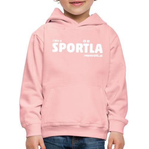 i bin a supatrüfö sportla - Kinder Premium Hoodie
