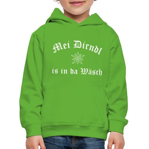 Mei Dirndl is in da Wäsch - Edelweiß - Kinder Premium Hoodie
