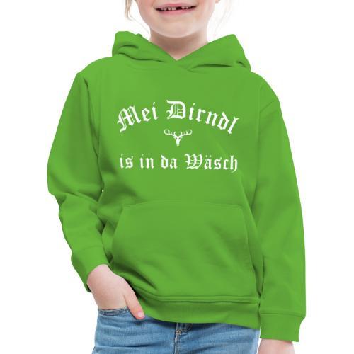 Mei Dirndl is in da Wäsch - Hirsch - Kinder Premium Hoodie