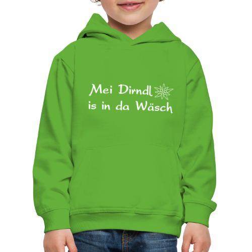 Mei Dirndl is in da Wäsch - Kinder Premium Hoodie