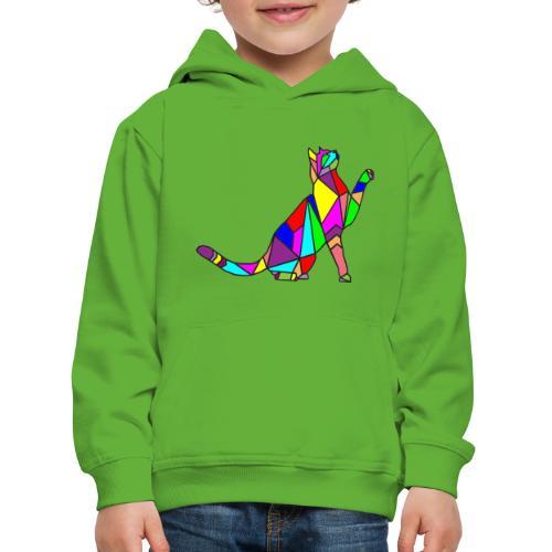 composizione di arte animale animale domestico colori gatto - Felpa con cappuccio Premium per bambini