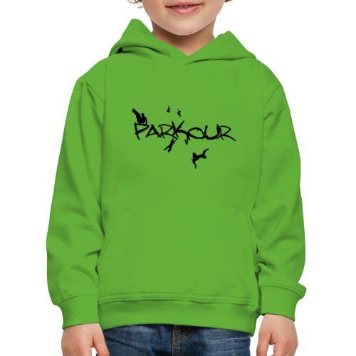 Parkour Sort - Premium hættetrøje til børn