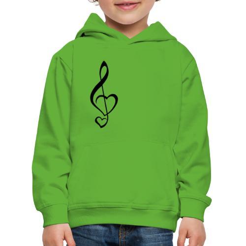 Notenschlüssel schwarz/Music-Lover - Kinder Premium Hoodie