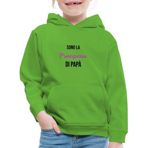 principessa - Felpa con cappuccio Premium per bambini