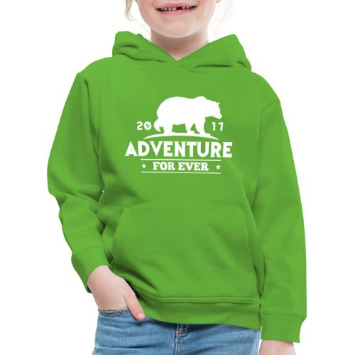 ADVENTURE FOR EVER - GRIZZLY - Felpa con cappuccio Premium per bambini