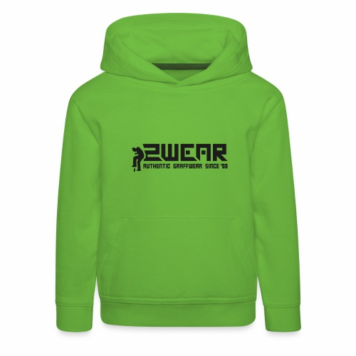 2wear org tagline logo blk - Premium hættetrøje til børn