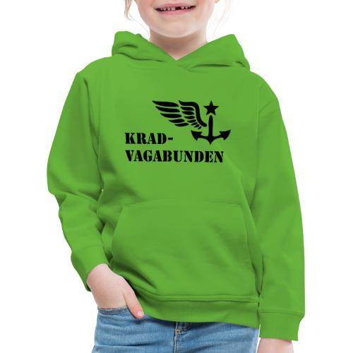 Krad-Vagabunden - Logo + Schriftzug - Kinder Premium Hoodie