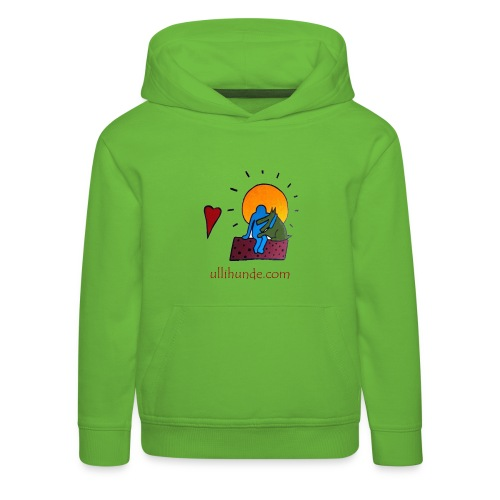 Ullihunde - Logo RETRO - Kinder Premium Hoodie