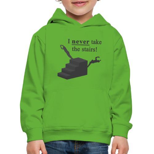I Never Take The Stairs Grey Parkour - Premium hættetrøje til børn