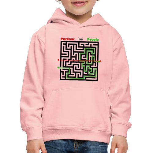 Parkour Maze parkour vs people - Premium hættetrøje til børn