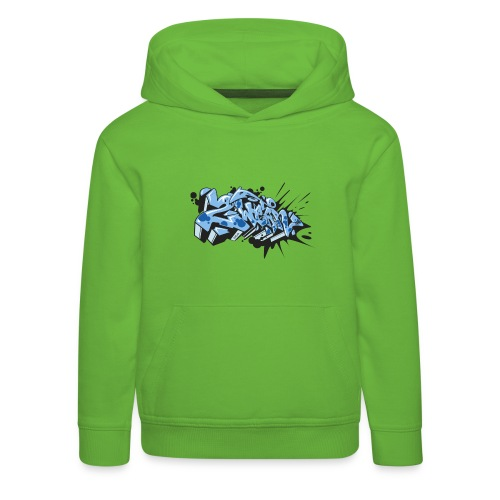 Dae 2Wear graffiti style ver02 LgtBlue edt. - Premium hættetrøje til børn