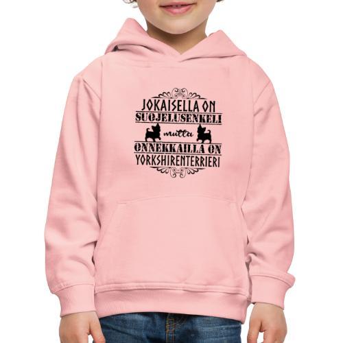 Yorkshirenterrieri Enkeli 5 - Lasten premium huppari
