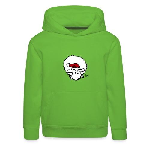 Weihnachtsschaf (rot) - Kinder Premium Hoodie