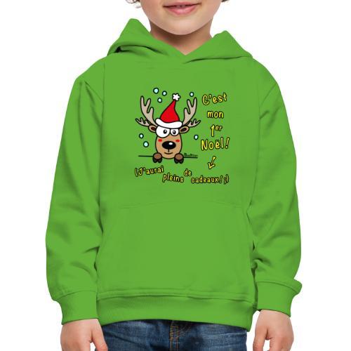 Renne - C'est mon Premier Noël - Cadeaux Drôles - Pull à capuche Premium Enfant