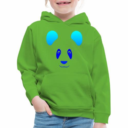 Happy Panda - Blue - Kids' Premium Hoodie