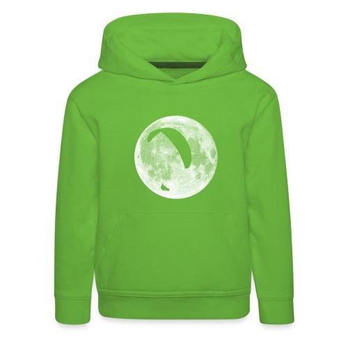 Paragleiter im Mond - Kinder Premium Hoodie