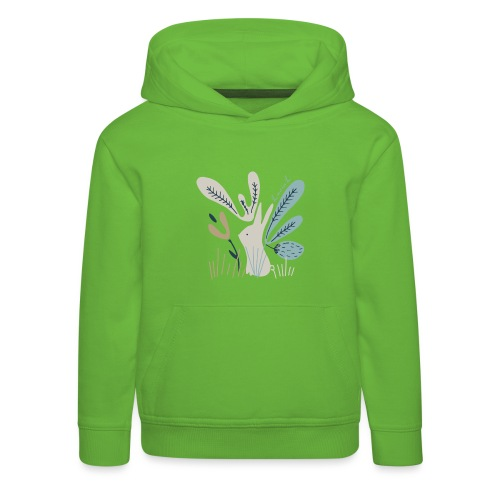 Rabbit in winter wonderland - Felpa con cappuccio Premium per bambini