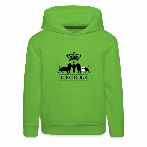 KING DOGS 2wear dog squad - Premium hættetrøje til børn