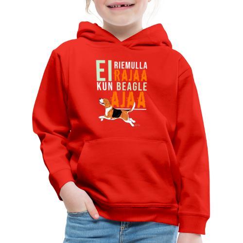 Riemulla Rajaa Beagle - Lasten premium huppari