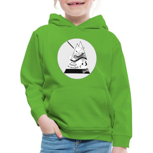 Logo BN - Felpa con cappuccio Premium per bambini