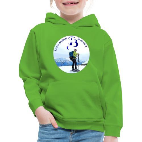Logo cartone ciaspole - Felpa con cappuccio Premium per bambini