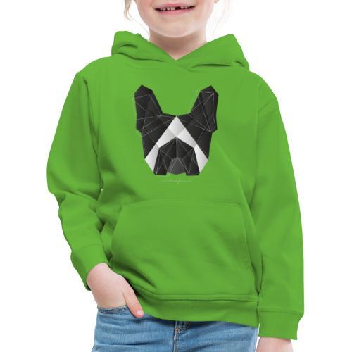 Geometric Frenchie black white - French Bulldog - Kinder Premium Hoodie