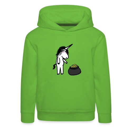Oro unicorno - Felpa con cappuccio Premium per bambini